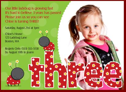 3rd Birthday Invitations