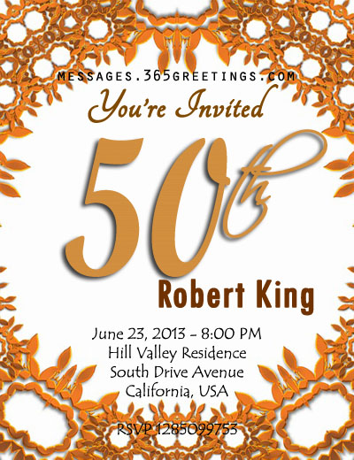 sample invitation for 50th birthday koni polycode co