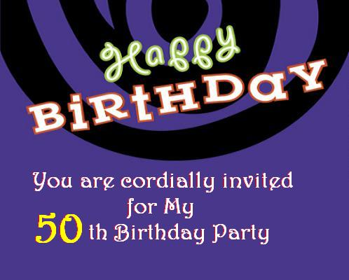 50th Birthday Invitations and 50th Birthday Invitation Wording – 50th Birthday Invitation Wording
