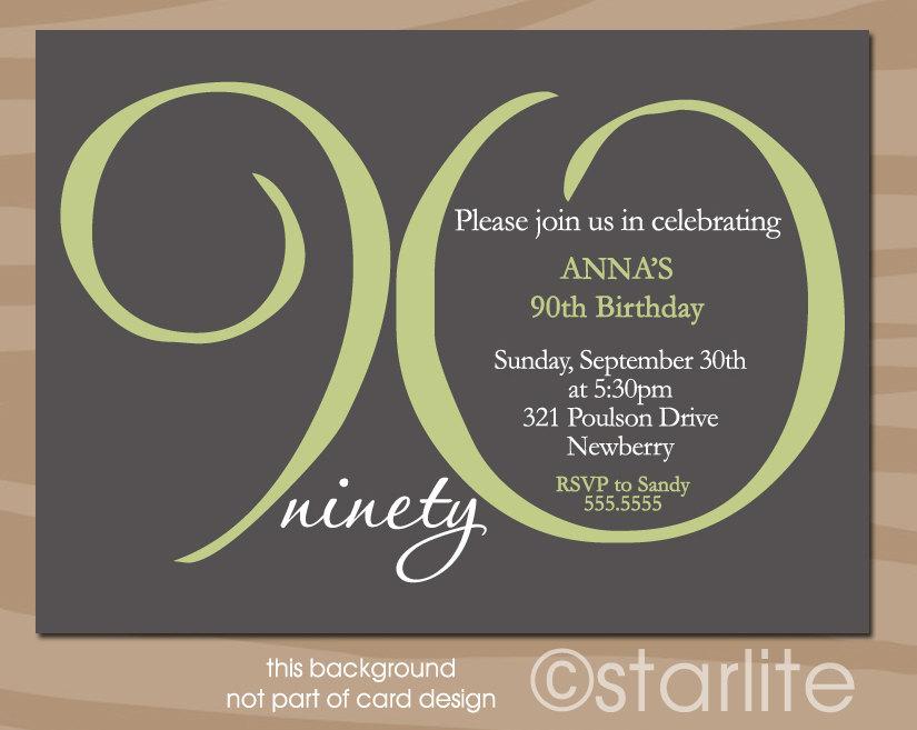 90th-Birthday-Invitations