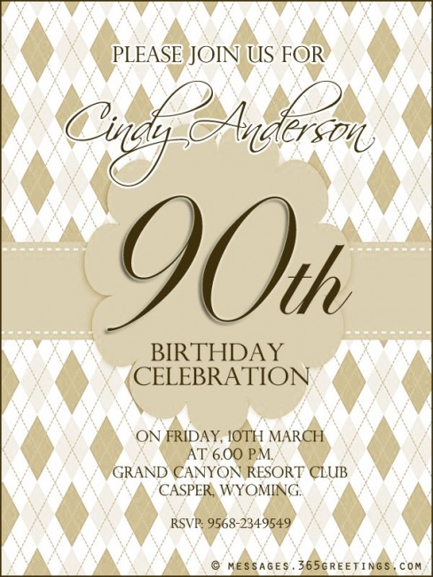 90th birthday invitation wording 365greetings 90th birthday party invitation wording filmwisefo