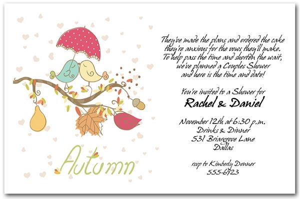 Wedding Shower Invitations As Wording With An Elegant Design Of Simple