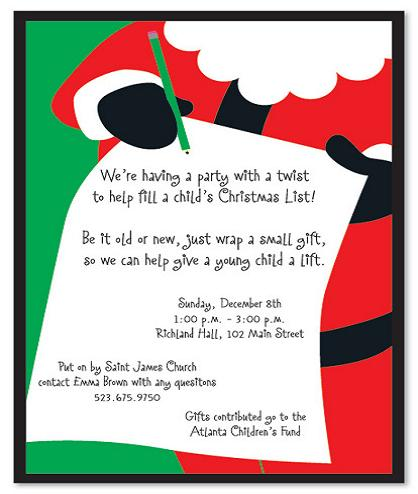 holiday party wording