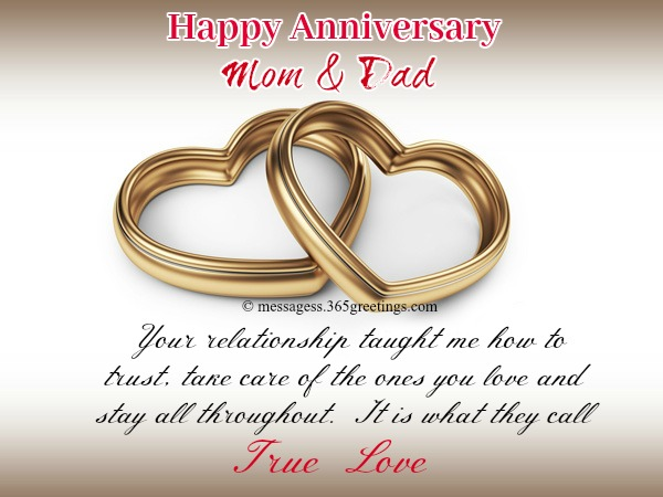 Anniversary Messages For Parents 365greetingscom