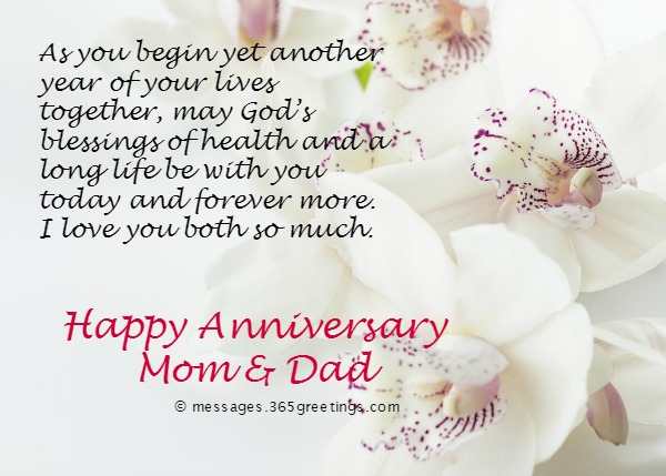 Wedding Anniversary Messages Parents