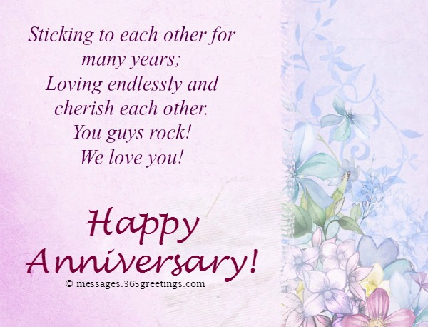 Once Again This Great Day Has Come And Today As We Celebrate Your Wedding Anniversary With You Want To Wish Many More Years Of Happiness Together