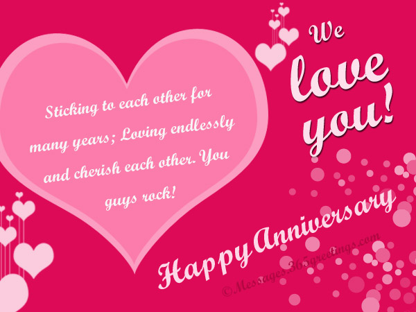 Anniversary messages for parents greetings