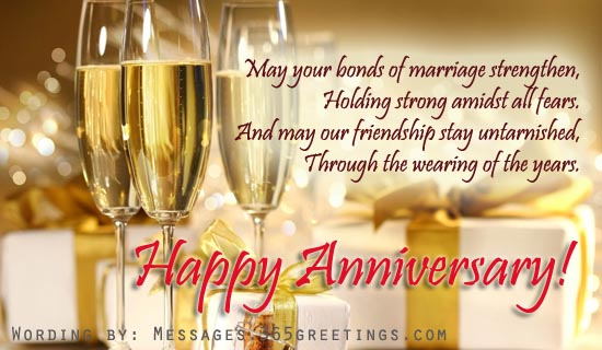 anniversary-wishes-to-friends - Messages, Greetings and Wishes
