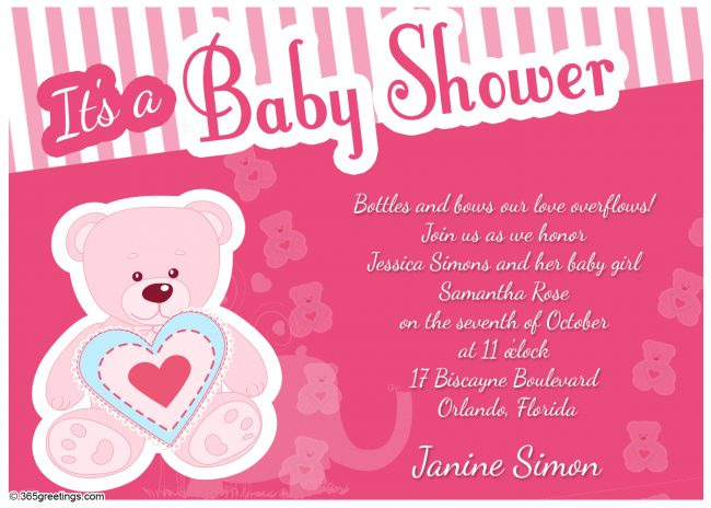 Baby Shower Invitations 365greetings Com