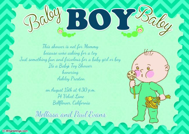 Baby shower invitations 365greetings baby shower invitation wording for boy filmwisefo