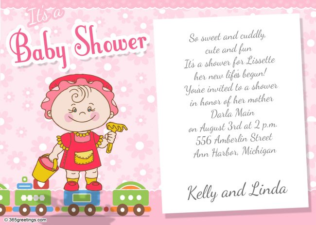 Baby shower invitations 365greetings baby shower invitation wording for girl filmwisefo