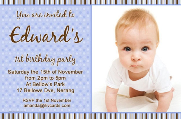 Birthday invitations 365greetings boy 1st birthday invitation filmwisefo Image collections