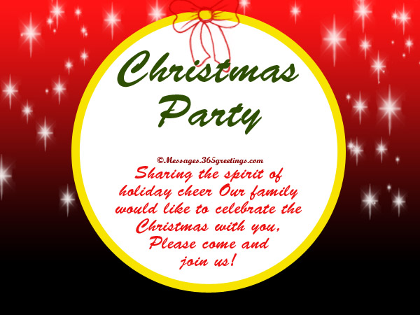 Christmas Party Invitation Wording 365greetings – Christian Wedding Invitation Wording Verses