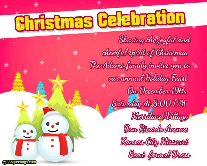 Christmas party invitation template 365greetings christmas party invitation template stopboris Image collections