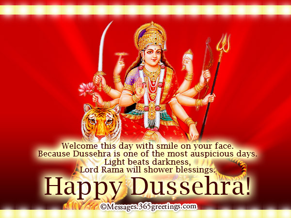 Dussehra wishes dussehra messages 365greetings celebrate the day when the good beats the evil spread the spirit of dussehra by sharing your blessings to others have a blessed and meaningful dussehra m4hsunfo