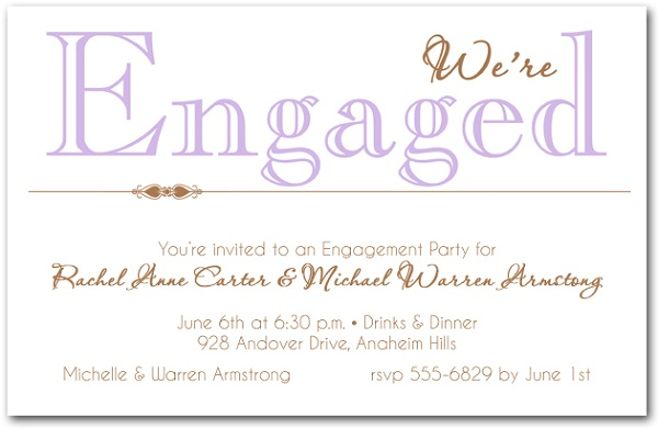 Superb Engagement Invitation Wording Samples Intended For Engagement Invitation Words