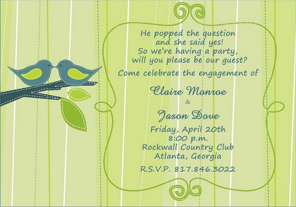 Engagement Invitation Wording 365greetingscom