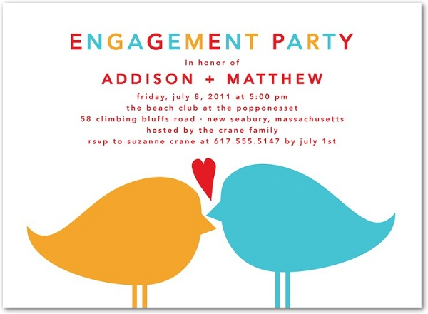 Engagement Invitation Wording Ideas  Engagement Invitation Words
