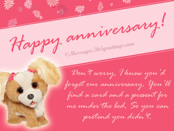 Collection Of Funny Anniversary Card Messages