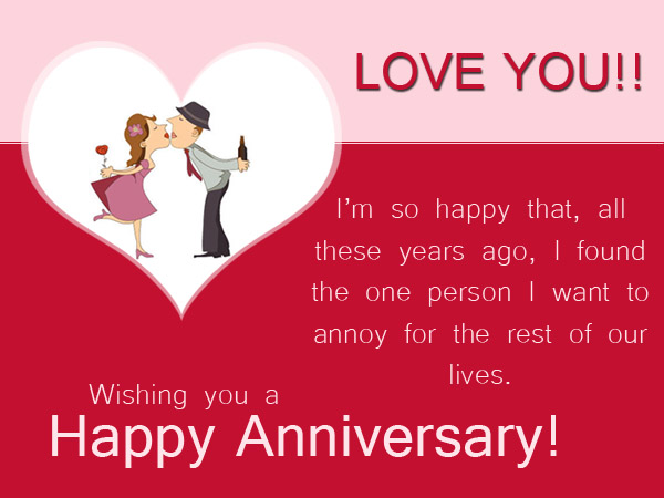 Funny anniversary card messages greetings