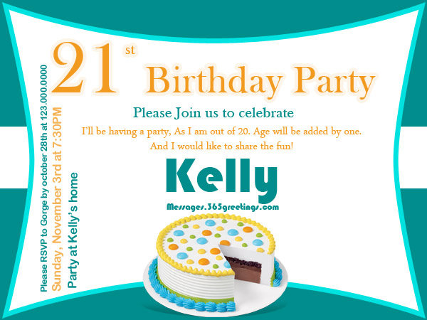 Funny 21st Birthday Invitation Wording