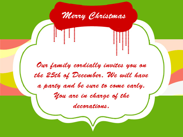 Christmas Party Invitation Wording Messages Greetings and Wishes – Thank You Party Invitation Wording