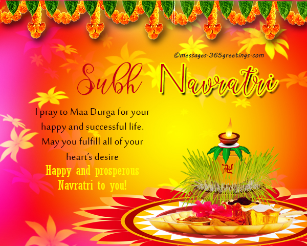 Navratri wishes navratri messages navratri greetings and quotes may this day of maa durga be the start of your good life and good fortune and i hope that navratri festival fill your heart with love and mirth m4hsunfo Images