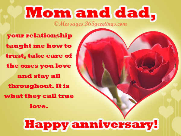 anniversary messages for parents 365greetings com