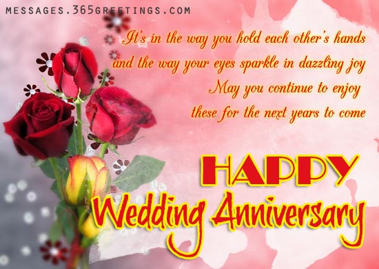 Wedding Anniversary Greetings Messages