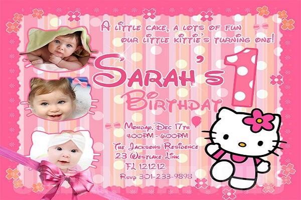 hello kitty birthday invitation   365greetings