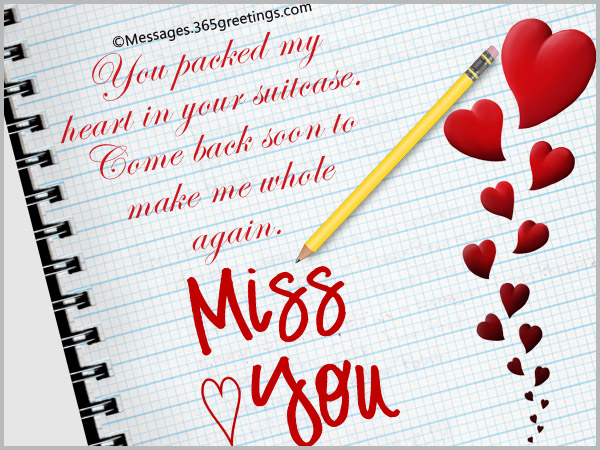 i miss you sms for him