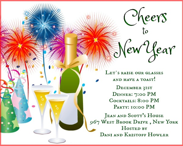 New Year Party Invitation Wording 365greetingscom