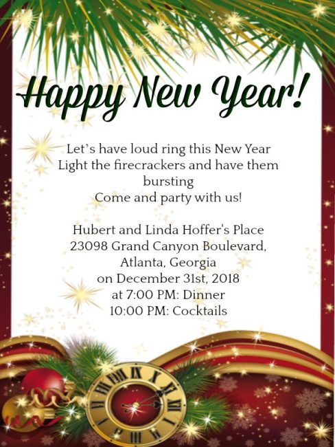 new year party invitation wording sample 10