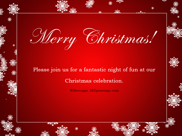 Christmas Party Invitation Wording  GreetingsCom