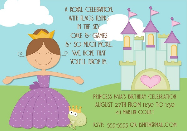 Birthday invitations 365greetings princess birthday invitations stopboris Choice Image
