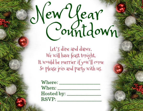 New Year Party Invitation Wording - 365greetings com