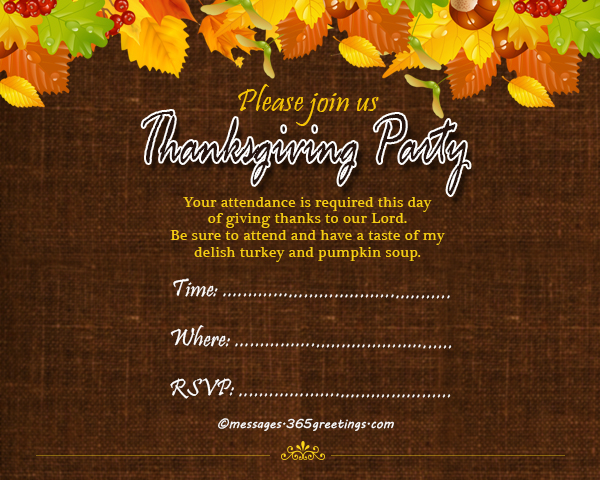 Our Life Is Enriched With All The Blessings He Bestowed Let Us All Be Thankful By Celebrating A Thanksgiving Party For Our Lord