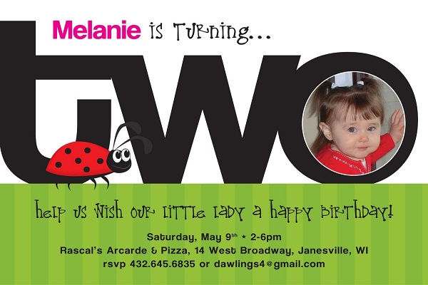 Birthday Invitations Messages Greetings and Wishes – 2nd Birthday Invite Wording