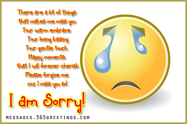 Sorry Messages for Boyfriend - 365greetings com
