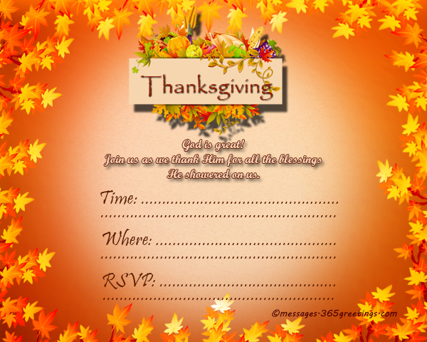 Thanksgiving Invitations  GreetingsCom