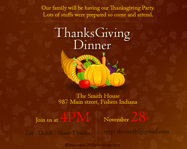 Thanksgiving Invitations - 365greetings com