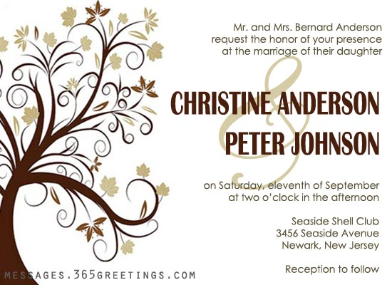 Wedding Invitation Wording 365greetingscom