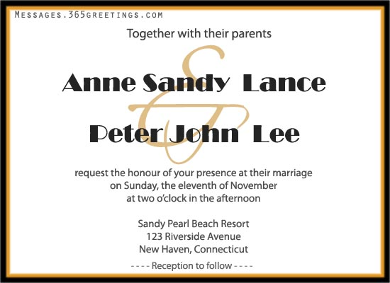 Wedding Invitation Wording  Engagement Invitation Words