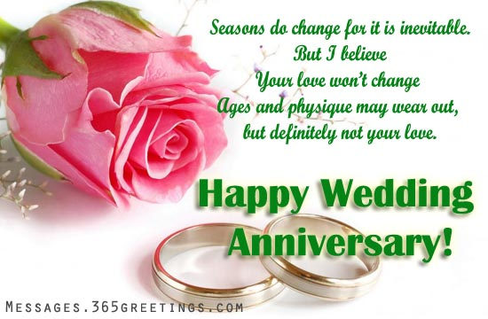 Wedding Anniversary Messages And Greetings