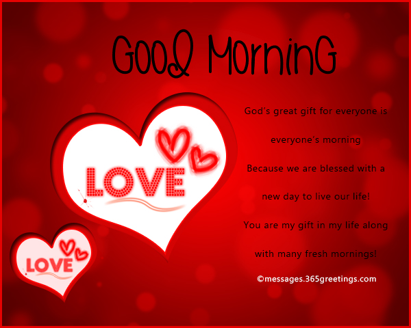 Good morning text message to your love