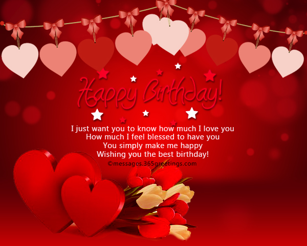 Romantic Birthday Wishes 365greetings – Best Birthday Greetings Ever