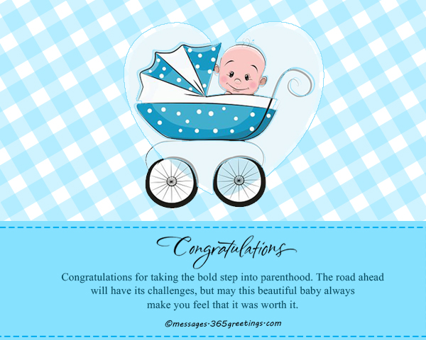 New born baby wishes and newborn baby congratulation messages congratulations for taking the bold step into parenthood the road ahead will have its challenges but may this beautiful baby always make you feel that it m4hsunfo