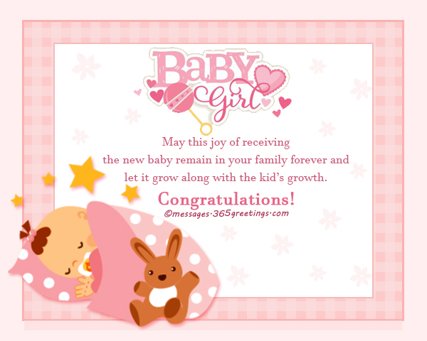 New born baby wishes and newborn baby congratulation messages may this joy of receiving the new baby remain in your family forever and let it grow along with the kids growth congratulations m4hsunfo