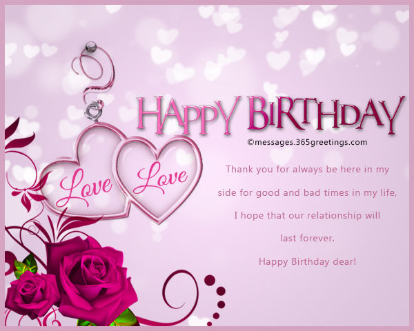Romantic Birthday Wishes 365greetings – Happy Birthday Cards for My Wife