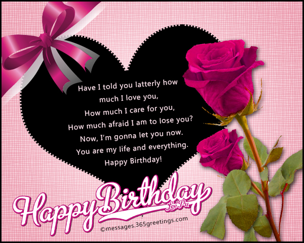 Romantic Birthday Wishes - 365greetings com
